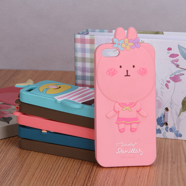 custom cute animal shape silicone cheap mobile phone case for iphone 5s