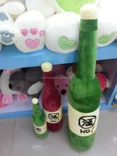 creative stuffed plush bottle shaped toy.stuffed plush human doll toys