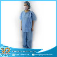 scrub jacket/scrub suit for sale/high quality nurse chinese collar scrub suit