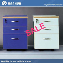 Small under desk 3 small drawer/mobile/metal furniture file cabinet