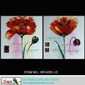 2015 novos venda quente 100% moderna handmade da flor da lona da pintura a óleo para decoração da parede