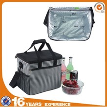 Cheap insulating effect lunch and wine polyester aluminium foil cooler bag