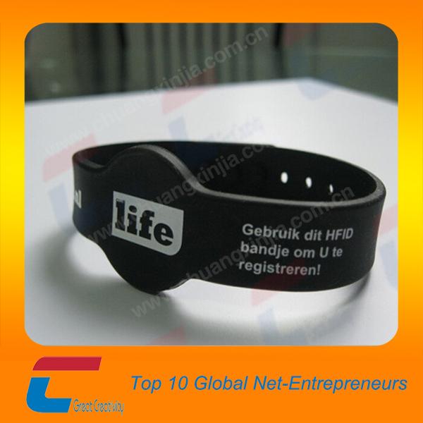iso1443a tanche r glable rfid bracelet en silicone pour. Black Bedroom Furniture Sets. Home Design Ideas