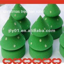 2015 newest sponge christmas trees hair roller
