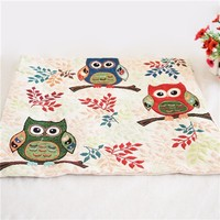 Colorcasa home textile owl patterned pillowcase cotton fabric pillow cover decorative item for bed&sofa(ETH138)