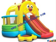 Bounce house slide,Tiger inflatable castle,Indoor inflatables(COM-496)