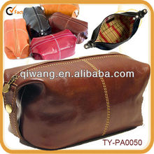 Spacious leather travel kit fit for travel