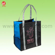 Recyclable 100gsm Non Woven Lamination advertising Tote RPET Shopping Bag