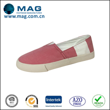 Summer cheap custom printed canvas fabric shoes for women