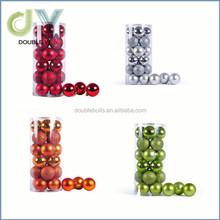 Custom 24x Colorful round Christmas Balls Baubles Ornament Xmas Tree Hanging Decor balls
