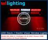 led visor light bar/Visor Dash 18LED Emergency Warning Strobe Light Mount Deck LED Lamp Bar Red&White