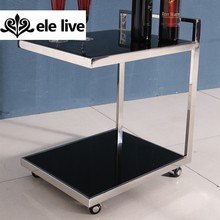 fashion stainless steel coffee table; side sofa table; end table with tempered glass top
