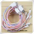 Atacado colorido usb micro pirulito tipos de cabo usb, alta qualidade de micro cabo usb para samsung galaxy