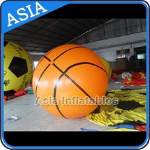 0.8mm Pvc Big Basketball Helium Balloon For Promotion , Helium Balloon Price
