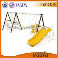 Children two seat swing play equipment