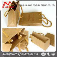 Top quality custom recycled brown paper bag