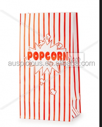 Harmless environment friendly custom craft paper popcorn bag for packaging
