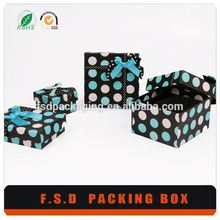 luxury print wave point 8x8 paper gift box