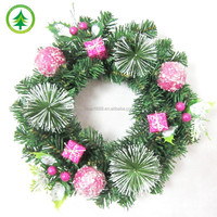 New design products for fiber optic Christmas wreaths decoration