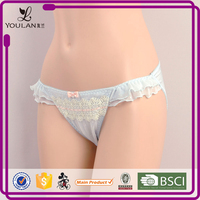 green cotton bottom lace T-back young girl cotton panty