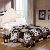3D new designs king size super soft polyester mink blanket