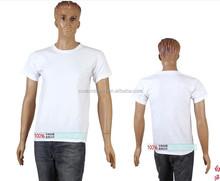 Bulk 100% cotton white blank t shirts wholesale 1 dollar cheap budget ,plain white sublimation T shirts