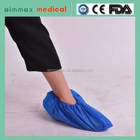 blue disposable CPE/PE shoe cover,rain shoe cover,disposable overshoes