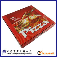 ready to eat food packaging custom printing logo scooter pizza box