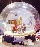 interesting big inflatable human snow globe for Christmas Decorations