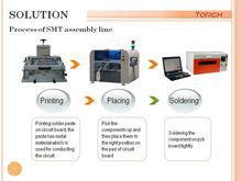 desktop small SMT assembly line, smd production line desktop mounter T210c+