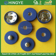 wholesale 20mm blue fabric covered metal garment snap button-- F1524