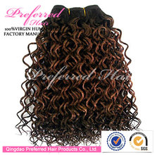 Charming Lady Preferred 4# Color Water Curly 18'' Indian Remy Hair Sample Order Accepted Human Hair Weft/Extensions