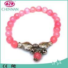 China Hot Sale Two Metal Fish Wholesale Gems European Bead Bracelet