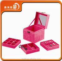 wholesale China Luxury fashion velvet jewelry box