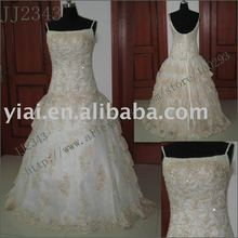 2011 drop shipping low price free shipping high quality Real beaded strapless beaded lace ball gown bridal dress JJ2341