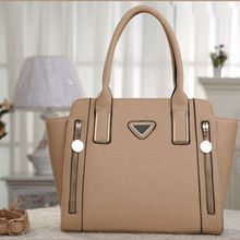 2015 New arrival woman plain leather old fashioned authentic designer handbag wholesale