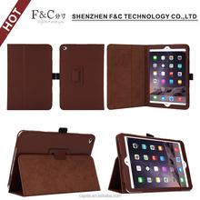 Premium litchi pattern folio cover leather case for ipad mini 4 with machine frame