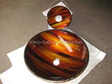 DOMO Fancy Glass Basin for Washing Hand 420*145mm