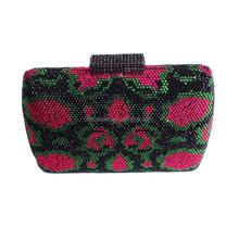 Luxury crystal and rhinestone box clutch bag lady bridal purse