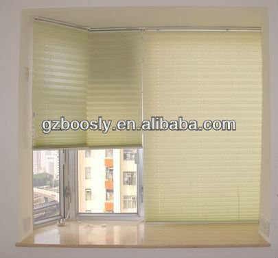 Wireless Remote Control Motorized Pleated Blinds