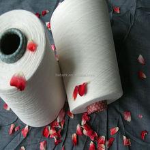 auto cone close virgin polyester spun yarn in raw white