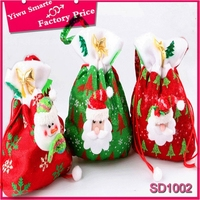 Bulk quantity christmas decoration stock.Promotional,Funny character design christmas tree candy bag free sample