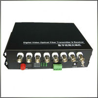 8 ports video multiplexer for video & data signal to fiber 80km