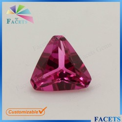 5*5 Triangle Cut Corner Ruby Price Carat Natural Ruby from China Jewellry Market