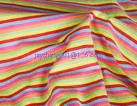 100% cotton yarn dyed striped single jersey knit fabric