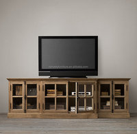 french style unique tv stands with wood and glass
