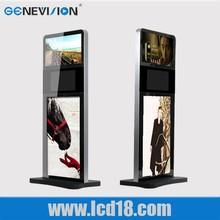 19'' 22'' 42'' floor standing portrait format and landscape format digital kiosk
