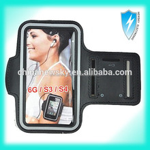 Dual Arm-Size Slots and Key Pocket Sport Armband For Iphone 6