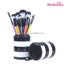 colorful cosmetic brushes 10pcs
