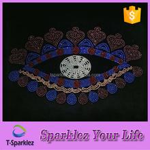 love hear eye hot fix rhinestone motifs transfer for Nigeria garment